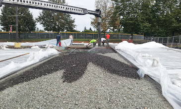 Photo: Pervious concrete was poured directly onto the structural soil.