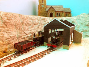 Photo: 023 It looks a bit like a winter scene at Meadholme loco shed, but it will take on a different tone when the grass has grown !