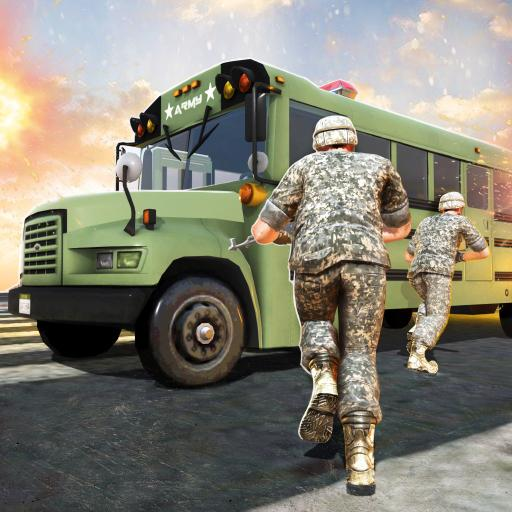 Off-road Bus WW2 Army Transport Coach Simulator