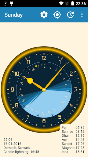 Sunday - Astronomical Clock Widget screenshot 6