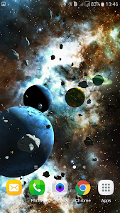 Asteroids 3D live wallpaper screenshot 4