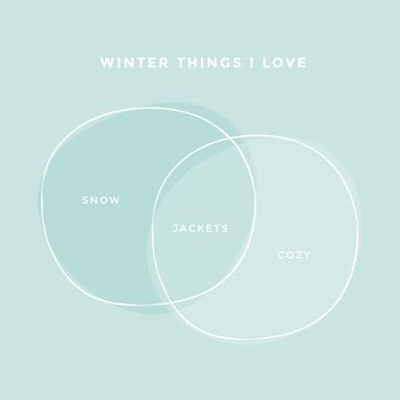 Winter Things I Love - Instagram Post template