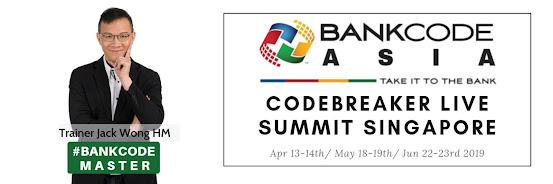 Codebreaker Live Summit Asia JUNE 2019 Singapore BANKCODE Fundamentals & Speedcoding