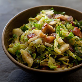 Brussels Sprouts with Bacon and Chestnuts.