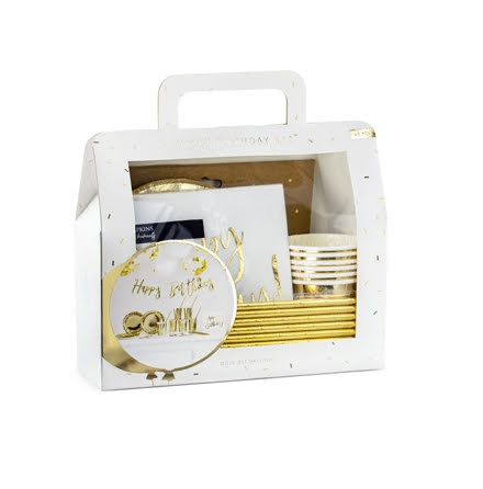 Kalasbox - Guld & Vit