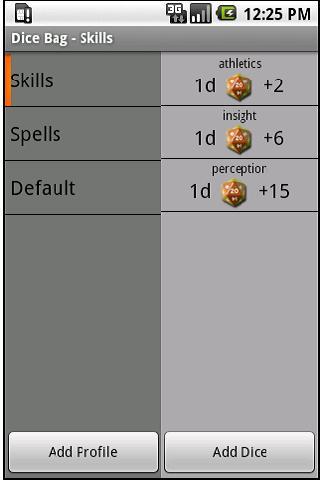 Dice Bag screenshot 1