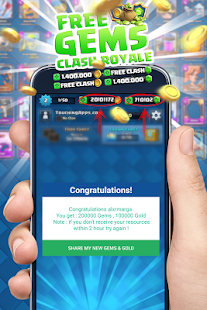 Gems for Clash Royale . Prank- screenshot thumbnail