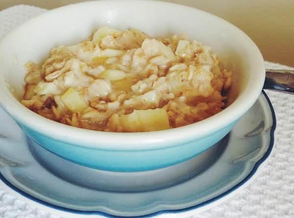 Hot Oatmeal W/ Vanilla & Apples