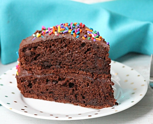 Best Ever Double Chocolate Fudge Layer Cake Recipe