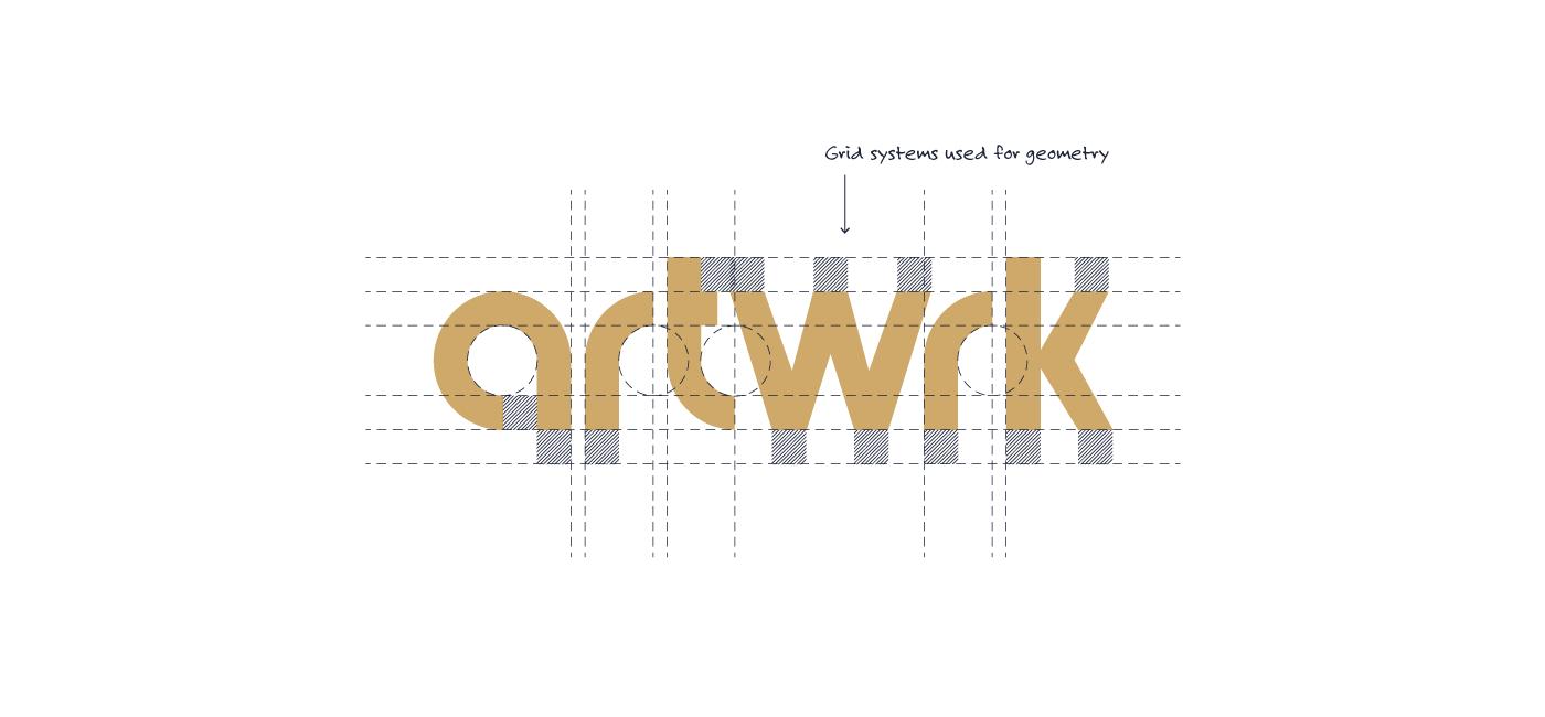 Artwrk Wordmark Grid-systems
