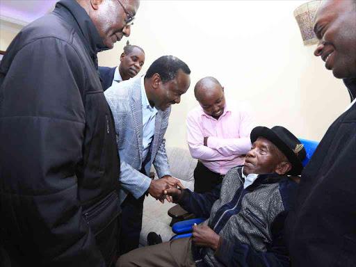 Kalonzo visits, prays with retired Archbishop Ndingi Mwana'a Nzeki