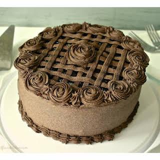 Special Dark Chocolate Layer Cake with Black Sweet Cherries.