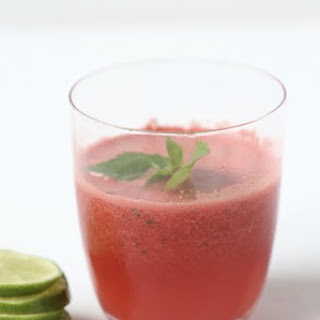 Basil and Lime Watermelon Slushies.