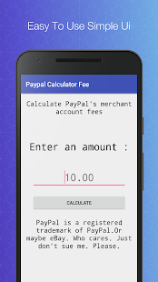 Paypal Fee Calculator (free)- screenshot thumbnail