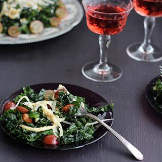 Kale Jicama Salad with Smokehouse Almonds and Roasted Grape Vinaigrette