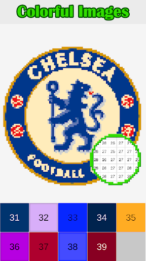 Football Logo Color By Number Logo Pixel Art App Report On