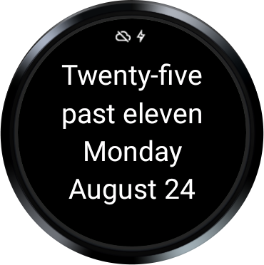 English Clock for Wear- screenshot