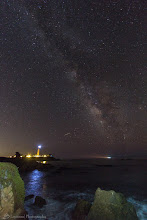 Photo: Starry Night Over The Lighthouse, Pescadero, CA