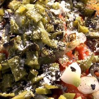 Charred Tomato-Nopal Salsa.