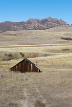 Photo: Barn near the entrance to Pinnacles National Park , which can be seen in the background.