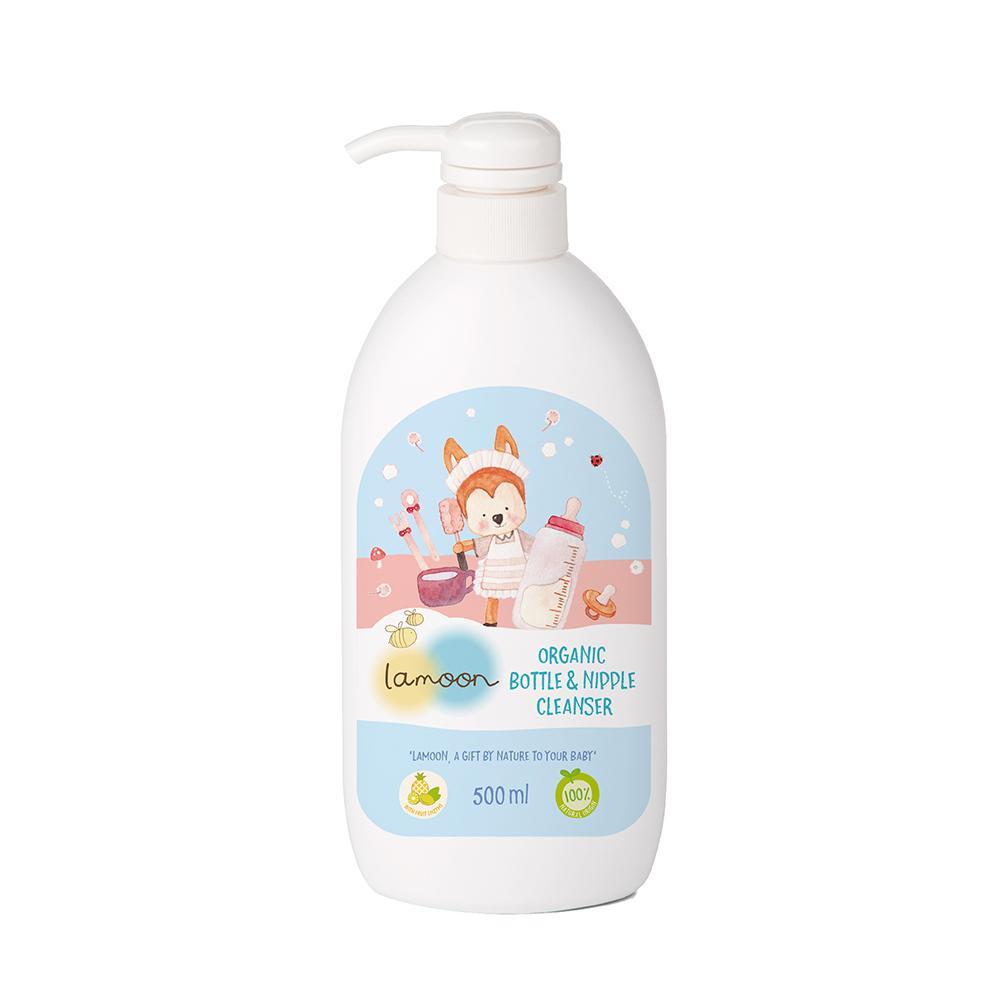 2. Lamoon น้ำยาล้างขวดนม Organic Bottle & Nipple Cleanser