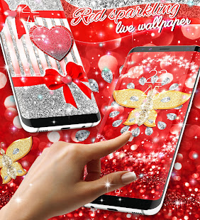 Red glitter live wallpaper