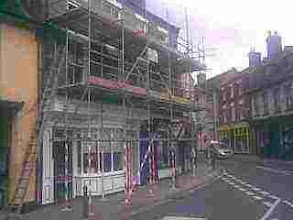 Photo: Butchers and Red Cross shop undergoing maintenance in the Bullring.