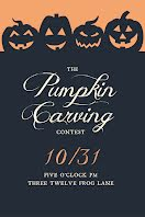 Pumpkin Carving Contest - Halloween item