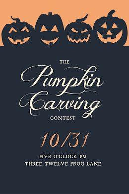 Pumpkin Carving Contest - Postcard item