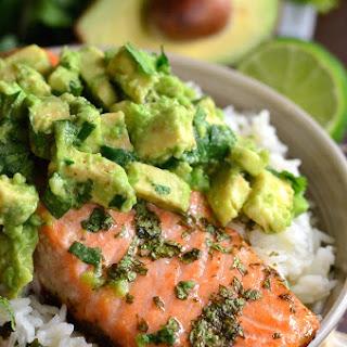 Avocado Salmon Rice Bowl Recipe