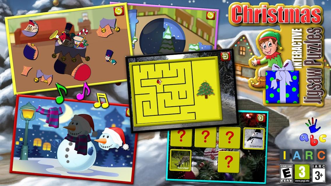 Kids Christmas Puzzles & Games- screenshot