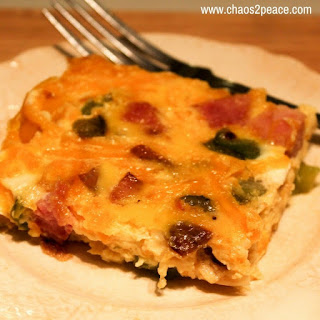 Crustless Quiche {with LOTS of veggies}.