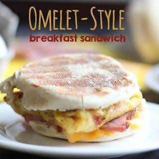 Omelet-Style Breakfast Sandwiches.