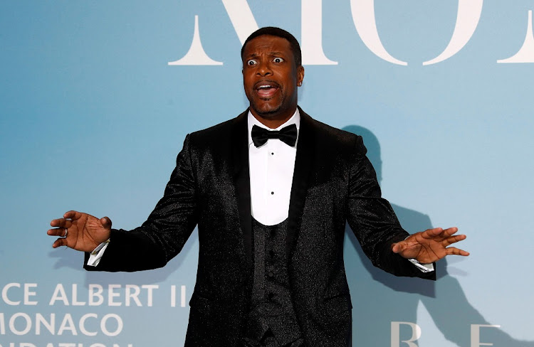I was there: Comedian Chris Tucker at the Monte-Carlo Gala for the Global Ocean in Monaco in September. Tucker, who is on tour in SA in November, says he develops his comedy routines from personal experiences and real life. Picture: REUTERS