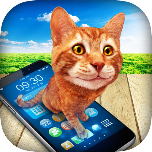 Cat in Phone Prank Icon