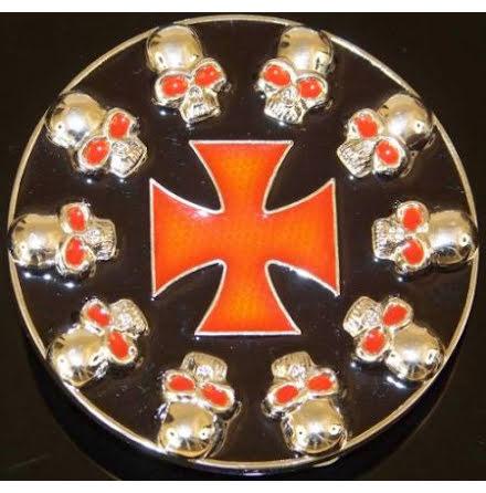 Generic Cross & Skull - Belt Buckle