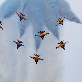 Black Eagles Aerobatic Team by Mann Renzef - Transportation Airplanes ( airplane, airshow )