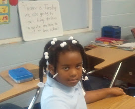Photo: Kaleya - at her new school