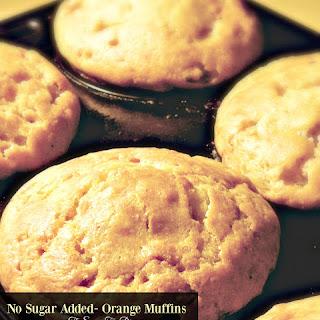 No Sugar Added- Orange Muffins