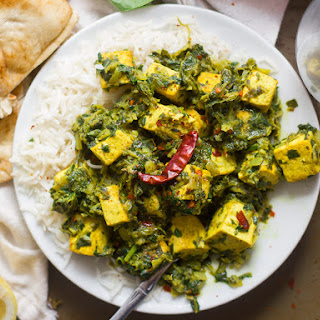 Vegan Saag Paneer (with Tofu Paneer!).