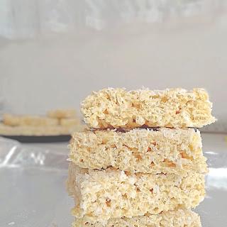 Dairy Free Coconut Rice Krispie Treats