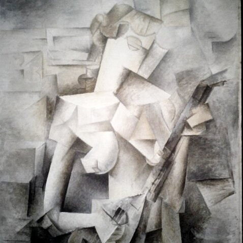 Photo: Picasso, Woman Playing the Mandolin -- MOMA.