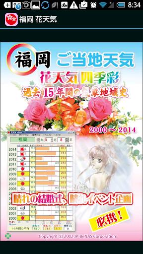 福岡 花天気 広告付き
