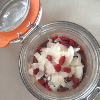 Chocolate, Blueberry and Banana Overnight Oats Recipe