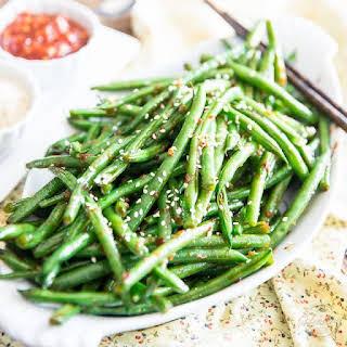Garlic Sesame Green Beans.