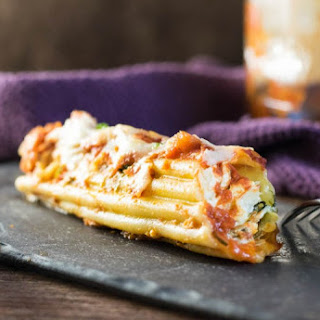 Spinach Artichoke and Chicken Manicotti