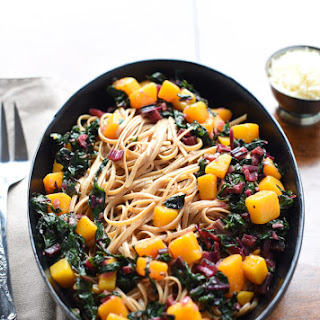 BROWN BUTTER, SAGE, FALL VEGGIES WITH WHOLE WHEAT PASTA