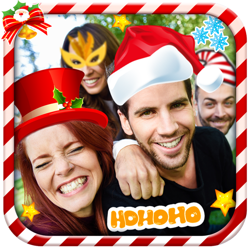 Photo Montage Ho Ho Ho - New Year & Xmas Stickers