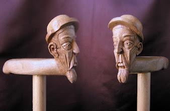 Photo: Bastón cabeza Quijote. Talla en madera. Woodcarving.    Para leer algo más en relación con esta obra ir al blog: http://tallaenmadera-woodcarving-esculturas.blogspot.com/2010/05/bastones-caballo-y-cabezas-de-mujer.html