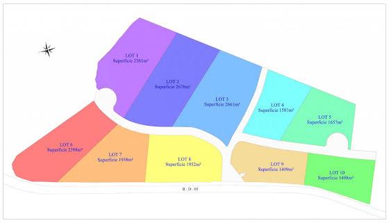 Vente terrain 2676 m2